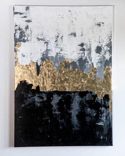 obraz luvo czarno złoty