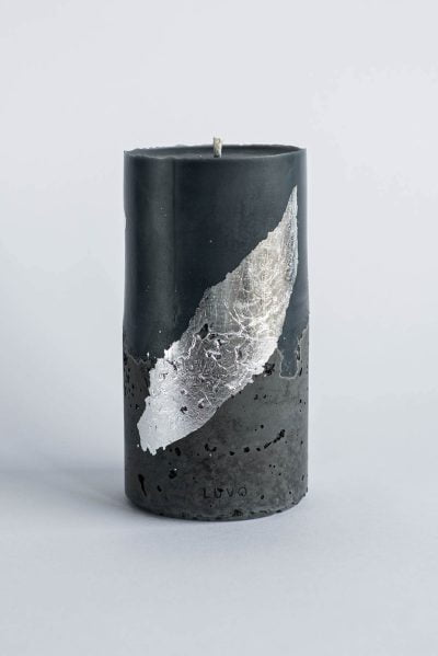 Czarna świeca dekoracyjna