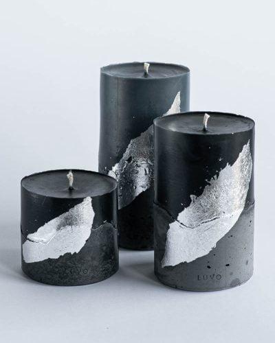 Zestaw świec naturalnych w kolorze czarnym